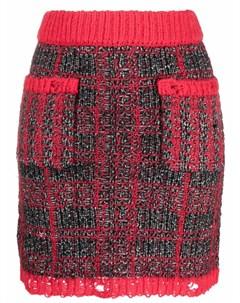 Твидовая юбка с эффектом потертости Pinko
