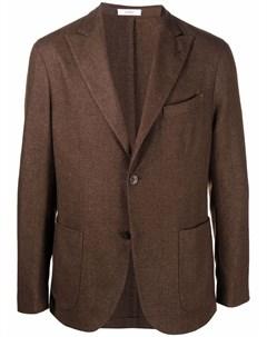 Однобортный пиджак из смесовой шерсти Boglioli