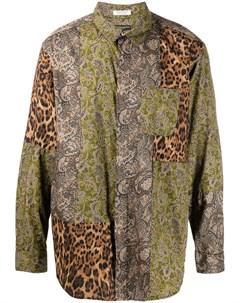 Рубашка Combo в стиле колор блок Engineered garments