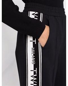 Спортивные брюки с логотипом на лампасах Twinset