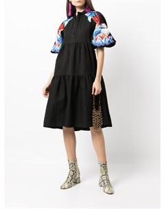 Платье миди с вышивкой Stella jean