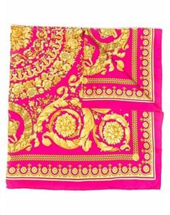 Шелковый платок с принтом Barocco Versace