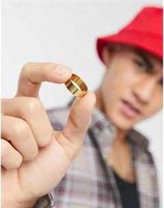Золотистое кольцо из нержавеющей стали Asos design