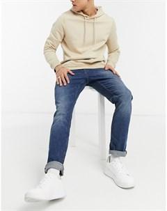 Голубые выбеленные джинсы прямого кроя Adean Tom tailor