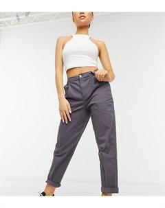 Темно серые брюки чиносы ASOS DESIGN Petite Asos petite