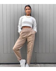 Светло бежевые брюки чиносы ASOS DESIGN Petite Asos petite
