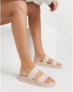 Бежевые сандалии из гибкого пластика Friday Asos design