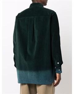 Вельветовая рубашка с контрастным подолом Nick fouquet
