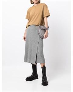 Трикотажная юбка миди Fabiana filippi