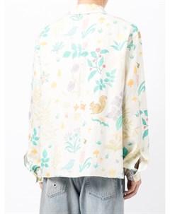 Пальто на пуговицах с цветочным принтом Nick fouquet