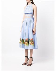Платье в тонкую полоску Stella jean