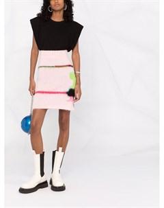 Трикотажная юбка с абстрактным узором Msgm