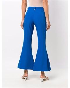 Расклешенные брюки с поясом Versace jeans couture