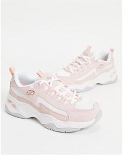 Светло розовые кроссовки D Lites 4 0 Skechers