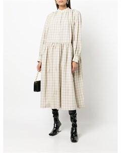 Расклешенное платье Yuki в клетку Casey casey