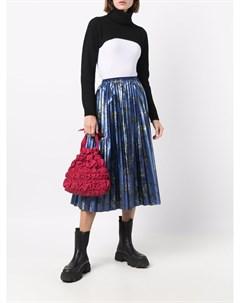 Плиссированная юбка с цветочным принтом Red valentino