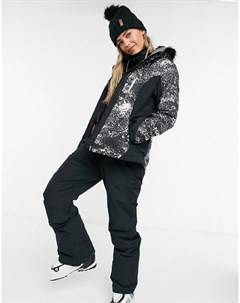 Лыжная куртка черного цвета Jet Premium Roxy