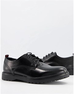 Блестящие туфли черного цвета на шнуровке Cog Base london