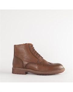 Рыжие кожаные ботинки Calipso