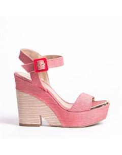 Розовые текстильные босоножки Calipso