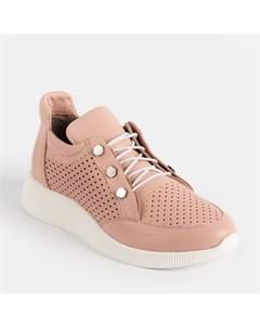 Розовые кожаные кроссовки Calipso