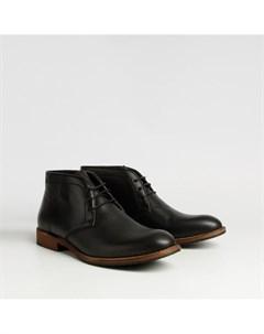 Черные ботинки из натурального велюра Calipso