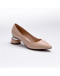 Бежевые кожаные туфли Calipso