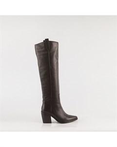Черные кожаные сапоги Calipso