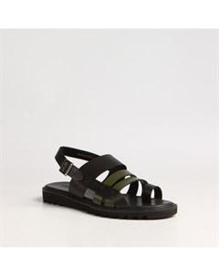 Зеленые кожаные сандалии Calipso
