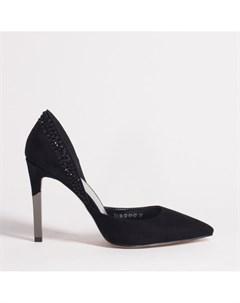 Черные туфли из искусственного велюра Calipso