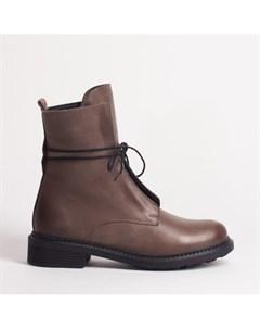 Коричневые кожаные ботинки Calipso