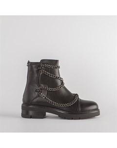 Черные ботинки из эко кожи Calipso
