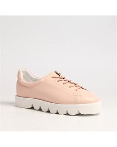 Розовые кожаные кеды Calipso
