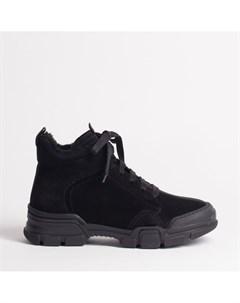 Черные ботинки из спилка Calipso