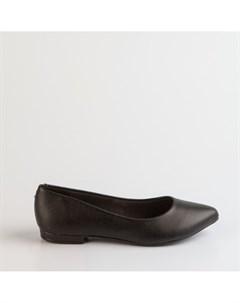 Черные балетки из эко кожи Beira rio
