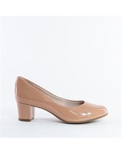 Бежевые туфли из эко кожи Beira rio