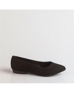 Черные балетки из искусственного нубука Beira rio