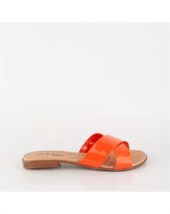 Оранжевые лаковые сабо Beira rio