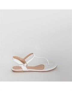 Белые лаковые сандалии Beira rio