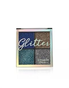 Тени для век Glitter 01 Королевская роскошь 12 4г Lavelle