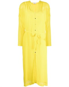 Жаккардовое платье с завязками Roseanna