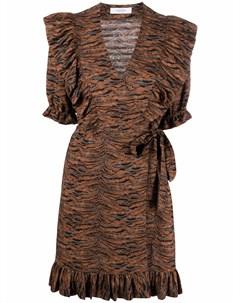 Платье мини Landsunny с оборками Roseanna