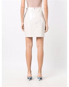 Виниловая юбка мини Msgm