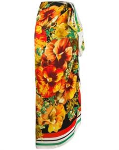 Платок с цветочным принтом и логотипом Marlies dekkers