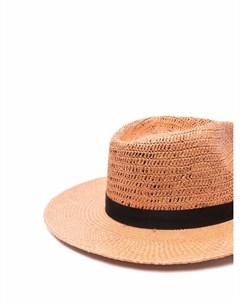 Соломенная шляпа федора Mystic Nick fouquet