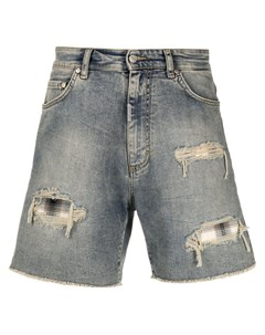 Джинсовые шорты с эффектом потертости Represent