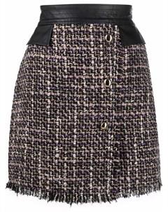 Твидовая юбка мини Liu jo