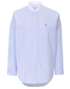 Блуза хлопковая в полоску Naumi