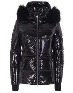 Куртка стеганая с мехом енота Naumi