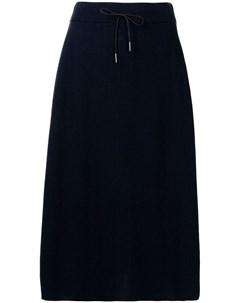 Трикотажная юбка миди с завышенной талией Fabiana filippi